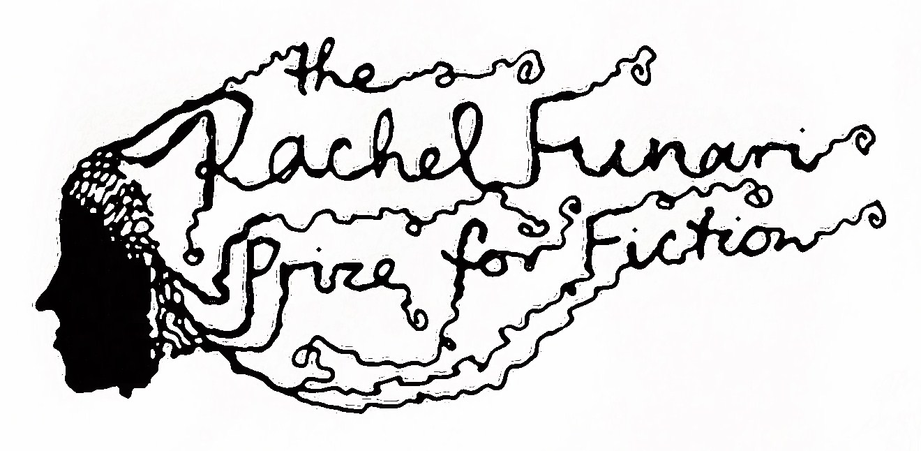 Logo of a person's face with hair that reads the Rachel Funari Prize for Fiction