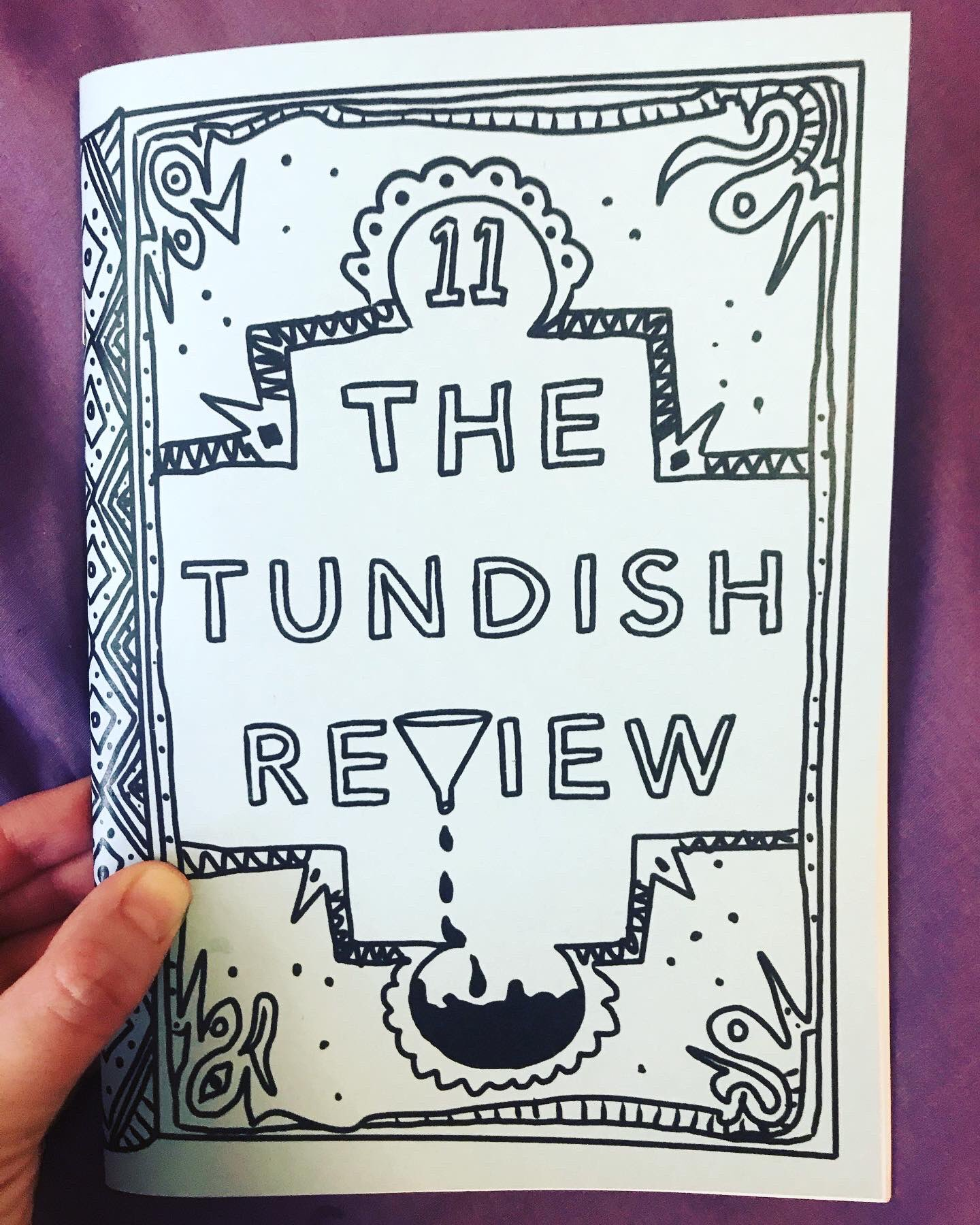 Photo of a copy of the Tundish Review Issue 11